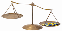 Balance scale unbalanced by medication